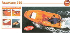 NEW 360 Newmatic Jeanneau Rigiflex Rescue Boat Package F 9.9 Yamaha Sailing Club