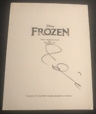 IDINA MENZEL SIGNED FULL  FROZEN MOVIE SCRIPT ELSA LET IT GO W/COA+PROOF RARE