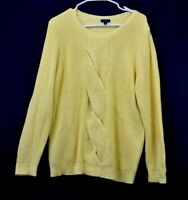 Talbots Women's Plus Size 1X Long Sleeve Crew Neck Knitted Fall/Winter Sweater