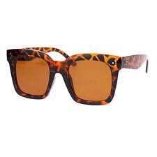 Oversized Square Frame Sunglasses Womens Celebrity Fashion Shades Tortoise