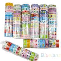 GI- ALS_ 10 Rolls Kawai Lovely Decor Cartoon Tapes Scrapbooking Adhesive Paper S