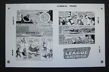 Org. Production Art JUSTICE LEAGUE OF AMERICA #13, pg 25 & 26, MIKE SEKOWSKY art