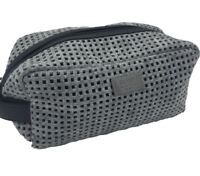 Hugo Boss Men's Grey Beauty Toiletry Bag Travel Overnight Wash Gym Shaving Bag