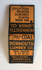 Monmouth Lumber Co. Building Materials.Vintage Match Cover- Ca 1930