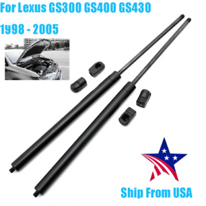 2pcs For DODGE RAM 1500 2500 2002-10 Bonnet Hood Struts Lift Support Gas Spring