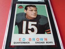 1959   ED  BROWN   TOPPS  # 137    SGC  92    CHICAGO  BEARS   !!
