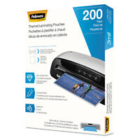 Fellowes Laminating Pouches Letter Size Hot Pouch 9 x 11.5 3 mil 200 pack