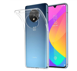 Clear Silicone Case & Tempered Glass Protector For Oneplus 7T