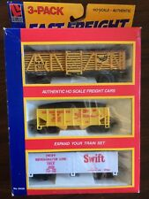 LIFELIKE TRAINS HO Scale 3 Pack Fast Freight 8459 Authentic Fits All HO Scale Y