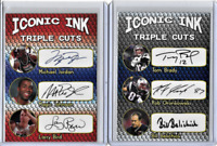 Michael Jordan Magic Johnson Larry Bird Iconic Ink Facsimile Autograph Card