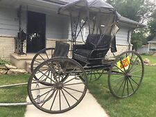Restoration Required:  Amish Mennonite Horse Drawn Buggy Carriage Road Wagon