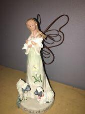 "Nib Nos Angel Accents ""Child of God"" Figurine by Roman Inc #49910 Baby Jesus"