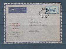 Eta/ enveloppe  Belgique poste aérienne consulat de Colombie PA 6 de 1946