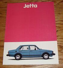Original 1981 Volkswagen VW Jetta Sales Brochure 81