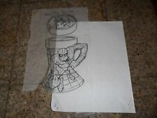 ORIGINAL ART SKETCH SPIDERMAN FIGURE CUP WACKY FACE KID LID TOY BURGER KING