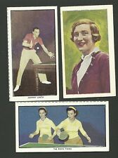 Table Tennis Ping Pong Oddball Sports Card Collection Rowe Twins Johnny Leach