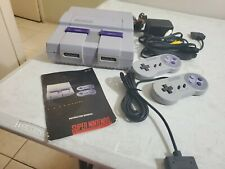 Super Nintendo SNES System Console  2 controllers  Authentic & Clean!! Working