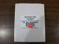 QUICKSILVER OIL INJECTION WARNING  PART # 41470A27