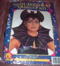 Sequined BAT WOMAN Headpiece & Collar VAMPIRE Costume NEW 2pc Costume PRIESTESS