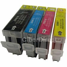 4 ink cartridges WITH CHIP for the CANON PIXMA IX 4000