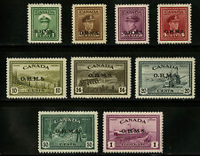 Canada   1949-50   Unitrade # O1-O10    Mint Lightly Hinged Set    VF