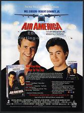 AIR AMERICA__Original 1990 Trade print AD promo__MEL GIBSON__ROBERT DOWNEY JR
