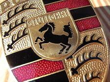 "Original PORSCHE Stuttgart Messing 911 etc Wappen Emblem Haube Schild Oldtimer """