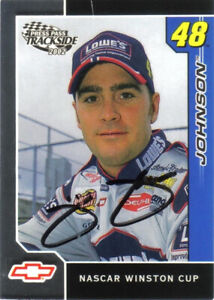 2002 Press Pass Trackside Jimmie Johnson #7 Signed Autographed Card