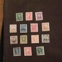 US stamps 1902 SC 300-313