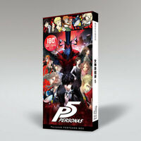 Anime PERSONA5 Collectible Postcard in a Box 30pcs Postcards + 120pcs Stickers