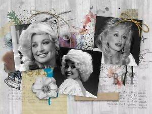 DOLLY PARTON    3 FT X  5 FT  FABRIC BANNER