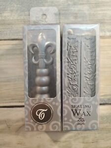 SILVER Sealing Wax (with wick) 4 Sticks NEW FREE SHIPPING letter w/ stamp