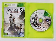 Assassin's Creed III (Microsoft Xbox 360, 2012) with Manual