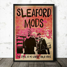 Sleaford Mods Art Poster Music Punk Political