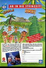 Schöller-- Ab in die Steinzeit--Koala- Tyranusaurus Rocks --Werbung von 1993--