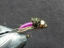 1 DOZEN  TUNGSTEN HEAD PURPLE NYMPHS FOR FLY FISHING-TUNG 189