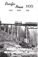 Pacific News 105 July 1970 MacMillan Blodel Ltd Vancouver Island Logging Rail