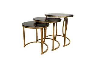 gold black lamp side coffee table indoor furniture homeware