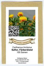 """100 Semi di Cartamo 20 semi omaggio /""""Carthamus tinctorius/"""" + mini guida"""