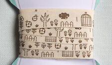 Cotton Fabric Ribbon, Trim, Bird Birdcage,forest bird, 15mmx3m