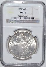 1878-CC MORGAN DOLLAR - NGC - MS 62 - NEW STYLE HOLDER