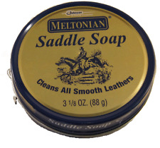 Meltonian  saddle soap cleans all smooth leathers 3  oz (88g)