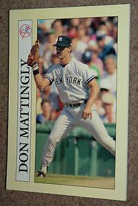 1991 Collectible Sport Art DON MATTINGLY Baseball Card Notepad Yankees Dodgers !