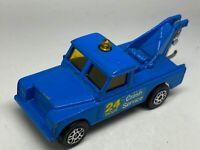 Corgi Juniors Blue Land Rover Wrecker Tow Truck - Near Mint