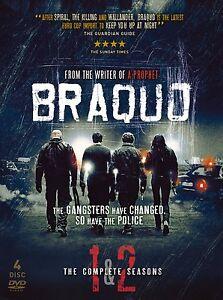 Braquo Season 1 & 2  (DVD, 2011, 3-Disc Set) Region 2 (D177)