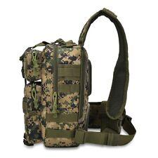 Tactical Sling Bag Military Backpack Pack Rover Shoulder Range Bag Woodland Camo