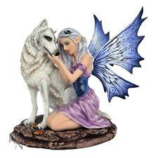 Nemesis Now Premium Figurines   Fairy Nadine & Silver/White Wolf D1756E5