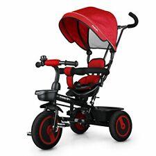 Fascol Dreirad Kinder 6 in 1 Kinderdreirad Kinder Fahrrad Baby rot unvollständig