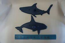 Lot 2 Wooden Shark Wall Hook  00006000 Coat Hat Clothes Hanger Nautical Fish Decor Wood