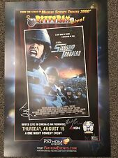 Rifftrax Live Starship Troopers - Autographed Poster